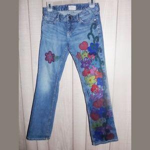 Aeropostale Sharpie Art Distressed Jeans
